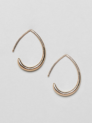 ASOS örhängen DESIGN earrings with teardrop pull through design