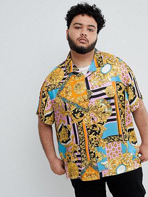 ASOS DESIGN Plus oversized vintage baroque style printed shirt