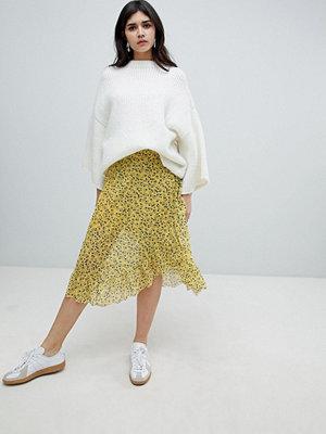 Soaked in Luxury Blommig kjol med ett sportigt midjeband Gul som en jordviva