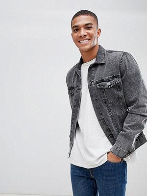 Jeansjackor - New Look denim jacket in grey wash - Mid grey