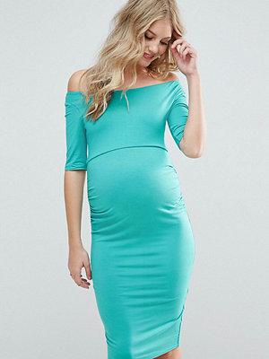 ASOS Maternity Bardot Dress with Half Sleeve - Teal