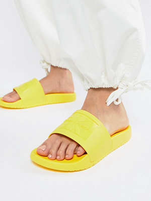 Calvin Klein Christie Yellow Jelly Sliders