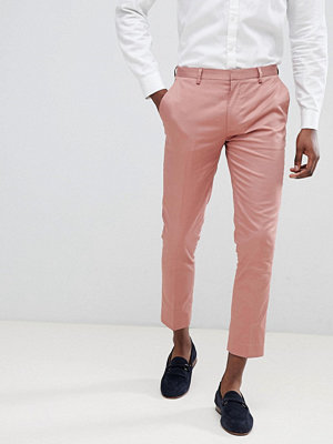 ASOS DESIGN super skinny crop smart trousers in dusky pink cotton sateen - Dusky pink