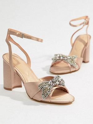 Aldo Embellished Blush Heeled Sandals - Light pink