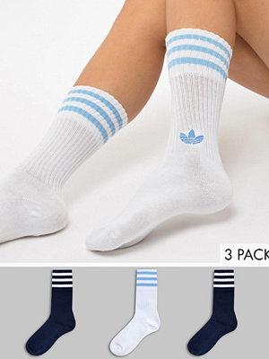 Adidas Originals 2-pack blå och vita strumpor