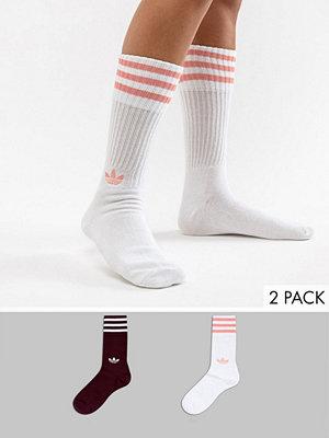 Adidas Originals Flerpack med vita och rödbruna strumpor