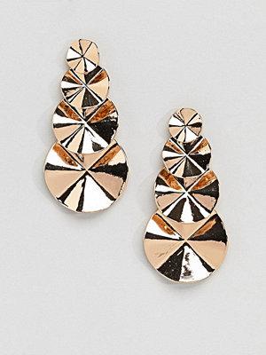 Aldo örhängen Circle Tiered Gold Earrings - Bright gold