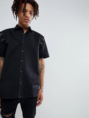 ASOS DESIGN oversized shirt with metal rings