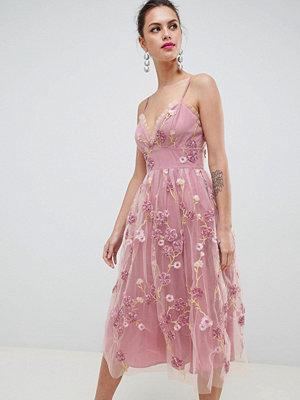 ASOS Edition 3D floral cami midi prom dress