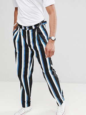 ASOS DESIGN Tall wide balloon trousers in all over stripe