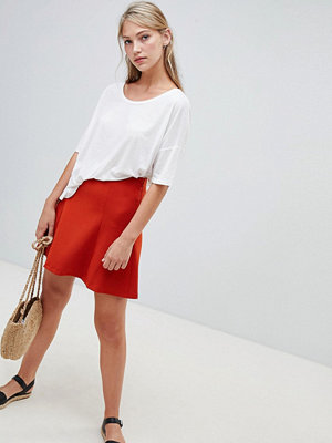 French Connection Whisper Ruth Skater Skirt - Copper coin