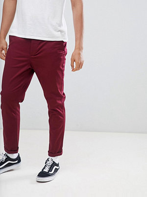 ASOS DESIGN tapered chinos in burgundy - Zinfandel