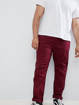 ASOS DESIGN Plus slim chinos in burgundy - Zinfandel