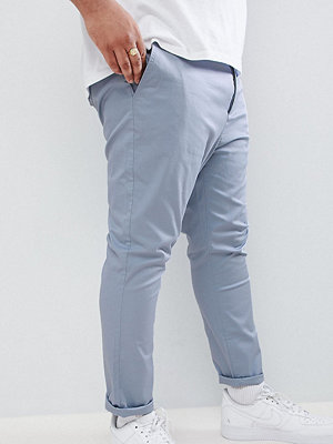 ASOS DESIGN Plus skinny cropped chinos in dusky blue - Ashley blue