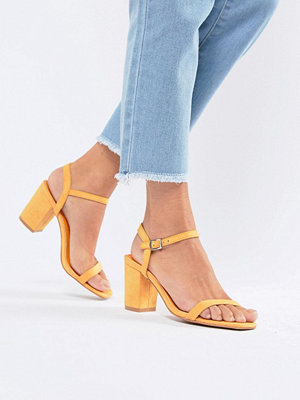 Glamorous Peach Block Heel Sandals