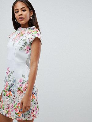 Asos Tall ASOS DESIGN Tall placement floral shift mini dress