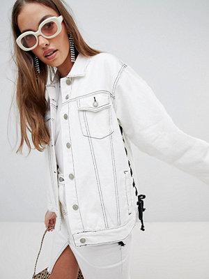 Jeansjackor - Glamorous flare sleeve denim jacket