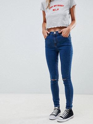 Glamorous ripped knee skinny jeans - Dark blue
