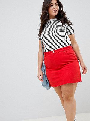 ASOS Curve Röd jeanskjol i minilängd