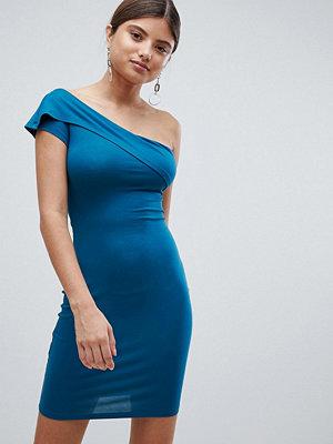 Missguided overlay bardot dress - Teal