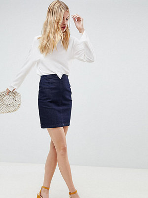 Asos Tall ASOS DESIGN Tall denim corset skirt in indigo - Indigo