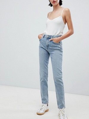 Weekday Way Blå skinny jeans med hög midja