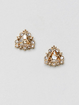 ASOS örhängen DESIGN stud earrings with crystal