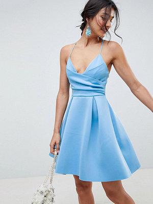 ASOS DESIGN Scuba Cami Prom Mini Dress - Blue