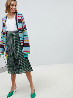Essentiel Antwerp metallic stripe skirt - Smoke pine