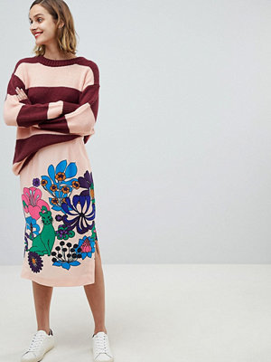 Essentiel Antwerp retro bloom skirt - Cameo pink