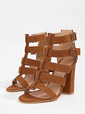 New Look Wide Fit Multi Strap Block Heel Sandal