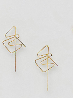 ASOS örhängen DESIGN gold plated sterling silver abstract twist stud earrings
