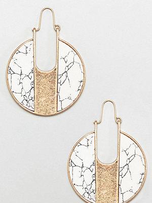 Glamorous örhängen marble round earrings (+)