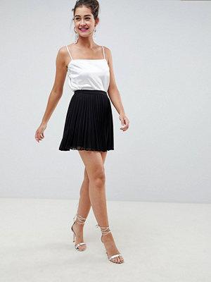 ASOS DESIGN pleated chiffon mini skirt