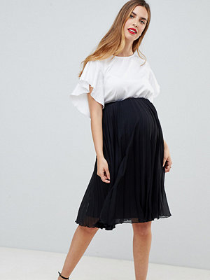 ASOS Maternity ASOS DESIGN Maternity pleated midi skirt