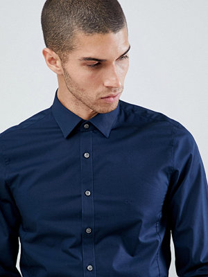 Calvin Klein Extra Slim Stretch Shirt Midnight Blue - Midnight blue