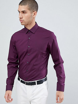 Calvin Klein Slim Fit Stretch Shirt Plum - Plum