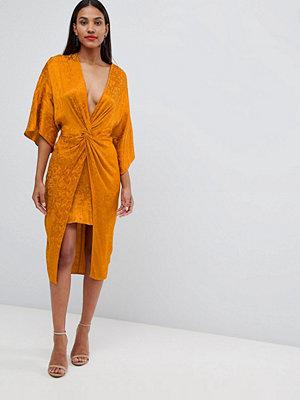 ASOS DESIGN soft jacquard kimono midi dress