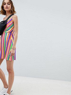 Reclaimed Vintage inspired cowl neck mini dress in stripe