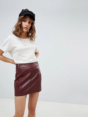 Free People vegan leather retro bodycon mini skirt - Purple