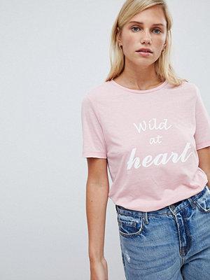 Vila T-shirt med slogan