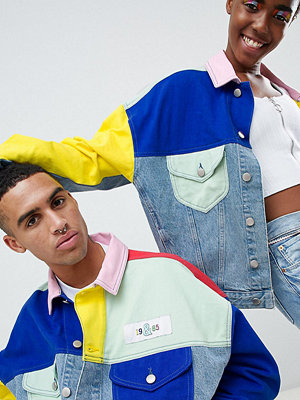 Jeansjackor - ASOS DESIGN x glaad& denim jacket in colour block