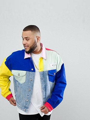 Jeansjackor - ASOS DESIGN x glaad& Plus denim jacket in colour block