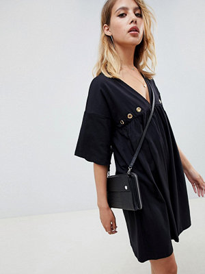 ASOS DESIGN ultimate cotton smock dress with eyelets
