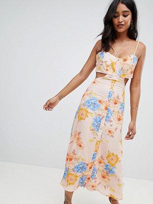Flynn Skye bloom cut out midi dress - Peony dreams