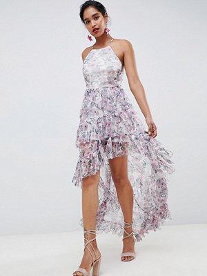 ASOS DESIGN tulle maxi dress in floral print