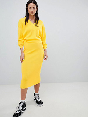 ASOS DESIGN co-ord skirt in rib