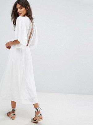 Suncoo Charlotte Lace Back Dress - Blanc casse