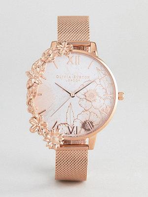 Klockor - Olivia Burton OB16CB13 Case Cuff Mesh Watch In Rose Gold - Rose gold