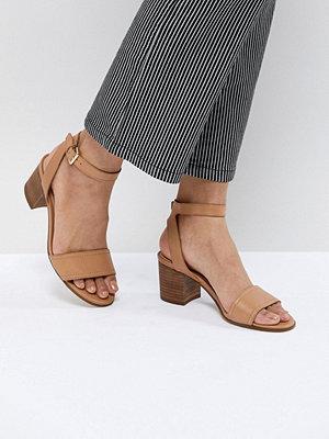 Aldo Tan Block Heeled Sandals - Cognac